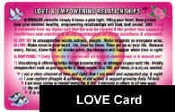 Love and Satisfying Relationships Affirmations Wallet Card