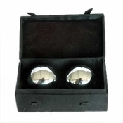 Health Balls Chrome (40mm) in Silk Box