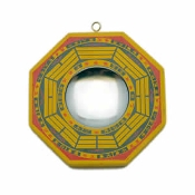 "4"" Bagua Wood Concave Mirror"