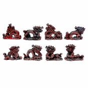 Polystone Dragon set of 8