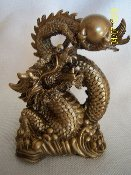 Dragon Holding Gold Pearl