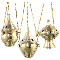 Incense Burners Brass Hanging Set 3