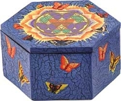 Butterfly Mandala Wood Box