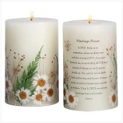 Marriage Prayer Candle - Vanilla