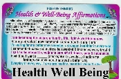 Health & Well Being Affirmations Wallet Card