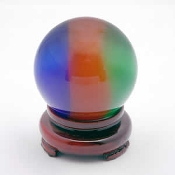 Cats Eye 50mm Tricolor Crystal Scrying Ball