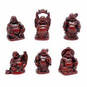 Buddha Red Hotai Set of 6