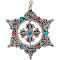 Pendant Tibetan Brass Dorje 6 Point Star