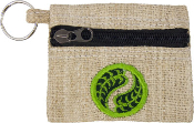 Hemp Wallet and Key Chain - Leaf Yin Yang
